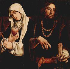 Lorenzo Lotto Particolare del Polittico di Recanati: i santi Caterina e Sigismondo