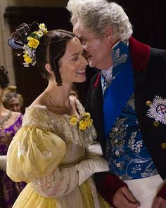 Emily Blunt and Jim Broadbent in The Young Victoria - 2009