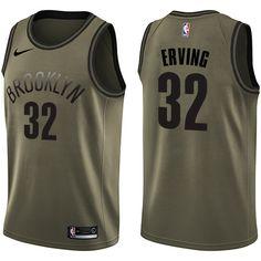 e5c86ed0b Nike Nets  32 Julius Erving Green Salute to Service NBA Swingman Jersey  Cheap Nba Jerseys