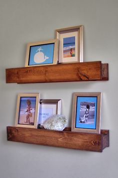 An old barn beam shelf.