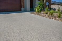 Snowy Mix exposed aggregate driveway  http://www.mawsons.com.au/home                                                                                                                                                     More