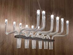 Blown glass pendant lamp STARDUST SP R Stardust Collection by Vetreria Vistosi design Francesco Lucchese