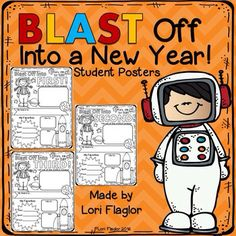 Blast off into a new school year with these adorable All About Me posters. Ready to print and go!