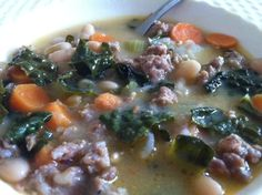 Most. Delicious. Soup. Ever. (a.k.a. Hearty Italian Kale Soup)