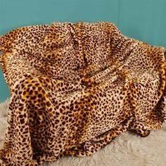 Luxury Soft Plush Cheetah Print MINK Throw ada15f809