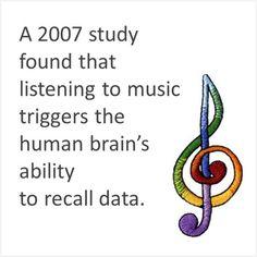 #music #brain facts  BrainSpade.com