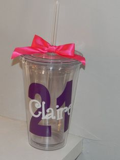 21st Birthday Gift Personalized Drink by dreamingdandelions, $11.00