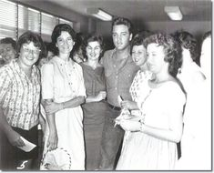 """Elvis with fans (from """"Elvis A. Presley"""" My Space)"""