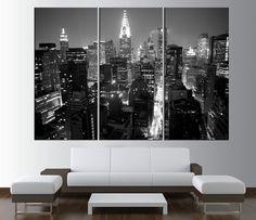 New York City Manhattan Skyline wall art canvas by ArtCanvasShop