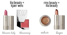 Makeup Mashups from different brands getting all lovey dovey! @iliabeauty @kjaerweis @rmsbeauty