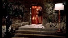 Dr. No's Lair...This is inspiration for my hot tub room, plus I very much covet that lamp.