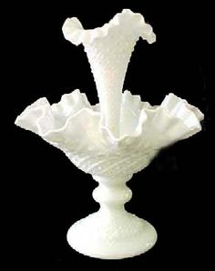 Milk Glass Fenton Epergne