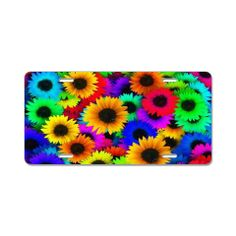 Sunflowers Aluminum License Plate on CafePress