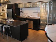 ikea kitchen idea ( smoky glass doors in between my laundry room door & Bathroom door)