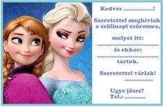 jégvarázs meghívó - Google keresés Elsa, Disney Princess, Disney Characters, Children, Frozen, Google, Girls, Christmas, Young Children