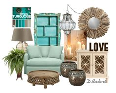 Living Room - Worn Turquoise - love these colors!