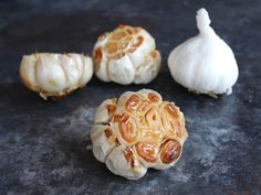 Learn five different ways to roast garlic, in oven or on stovetop. Makes milder, tender, caramelized cloves with a touch of sweetness. Easier to digest, too! Garlic Dip, Garlic Head, Roasting Garlic In Oven, Oven Roast, New York Times Cooking, Roasted Garlic Cloves, Roast Eggplant, Recipe 30, Vegetable Side Dishes