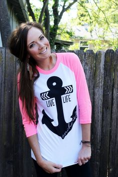 @Matt Nickles Nickles Valk Chuah Printed Palette neon pink anchor top // Katie Did What
