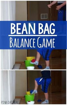 Bean bag balance game. Awesome for gross motor activities. Great for gross motor stations, physical education, the classroom, therapy, and home! A great way to work on single leg balance! #balance #preschool #kids