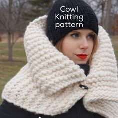 Harbour Cowl Knitting Pattern Chunky Cowl Pattern