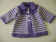 Knitting For Kids, Baby Knitting Patterns, Baby Patterns, Gilet Crochet, Crochet Baby, Knit Crochet, Knit Baby Sweaters, Baby Coat, Toddler Outfits