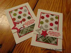 Weihnachtsprojekte zum Adventswochenende # 7 | Weihnachtskarte ~ Kreiere mit Liebe - Stempeln, Stanzen, Prägen und Co.