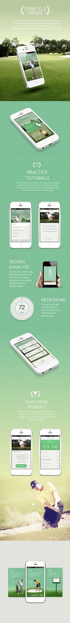 Une application pour entraîner ses talents de golfeurs. On est séduit par la beauté et la simplicité du design de l'interface.