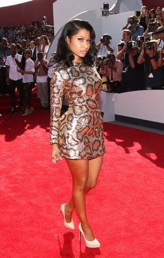 Nicki Minaj Looks Like a Spotted Leopard at the VMAs Jennifer Lopez, Beautiful Black Women, Beautiful People, Nicki Manaj, Trinidad Y Tobago, Mtv, Black Barbie, Red Carpet Looks, Girl Crushes