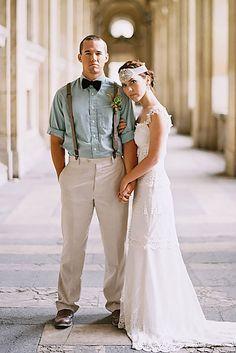Vintage Mens Wedding Attire For Themed Weddings ❤ See more: http://www.weddingforward.com/vintage-mens-wedding-attire/ #weddings