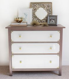 IKEA Hemnes dresser turned into a campaign inspired chest