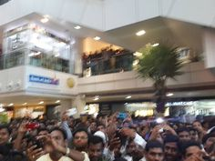 Overwhelming crowd at CMR Central Mall