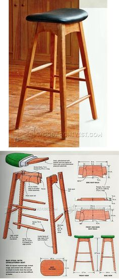 Build Kitchen Stool - Furniture Plans and Projects | WoodArchivist.com