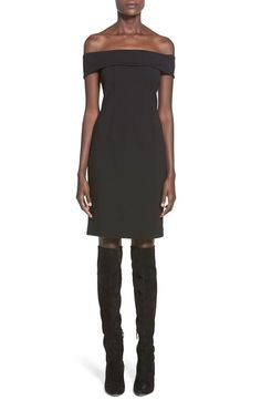 Show off your shoulders in a chic dress crafted with tailored darts in a figure-flaunting sheath silhouette.@nordstrom