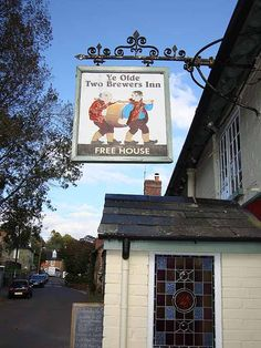 Ye Olde Two Brewers Inn, Shaftesbury, Dorset Pub Signs, Beer Signs, House Signs, Old Pub, Pub Crawl, Decorative Signs, Store Signs, Home Free, Store Fronts