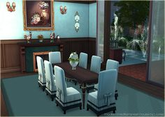 "My very first decorated Dining Rooms in Sims 4 :D  ""House Mediterana (No CC)"""