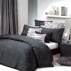 Black & Silver Quilt cover set