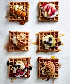 6 ways to top your waffles!