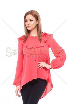 PrettyGirl Style Coral Shirt