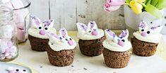 Söpöt pupumuffinit koristellaan vaahtokarkeilla ja koristerakeilla. Muffinssit saavat makua suklaasta ja niiden sisältä paljastuu yllätys. Noin 1,10 €/kpl*