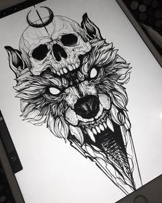 New piece for tomorrow! Can't wait 💀🐺 ___________________________ #tattoo #tattoos #tattooart #tattoodesign #tattoosketch #tattooist…