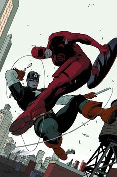 Daredevil & Captain America, my two favorite Marvel characters of all time.