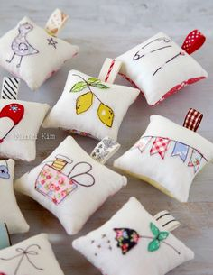 Spring Pincushions – Minki's Work Table