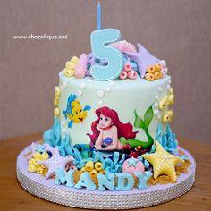 Little Mermaid Cake for Mandy - Judy E. Little Mermaid Birthday Cake, Toddler Birthday Cakes, 5th Birthday Cake, Little Mermaid Cakes, Little Mermaid Parties, The Little Mermaid, Sirenita Cake, Ariel Cake, Occasion Cakes