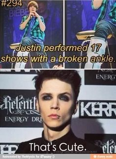 This is so sad. Andy went on stage with 4 broken ribs and still gave his fans all he could.