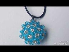 Beaded pendant free tutorial / pendentif perles /cevşen yapımı DIY - YouTube
