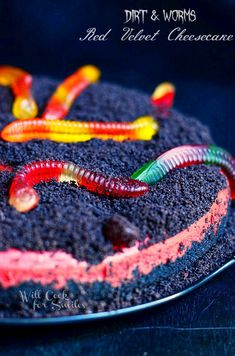 Worms and Dirt Red Velvet Cheesecake
