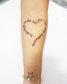 Name heart tattoo idea Heart Tattoos With Names, Name Tattoos, Mini Tattoos, Trendy Tattoos, Body Art Tattoos, Small Tattoos, Tattoos For Guys, Tattoos For Women, Tatoos