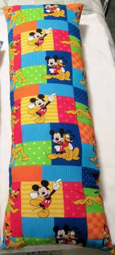 Small Kids Body Pillow  Disney Mickey Mouse by BusyBeeSewingForSMA, $14.00