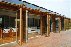 Wood Folding Glass Wall System by Nana Wall Systems - Green Products, Walls And Ceilings, Windows, Doors - EcoHome Magazine