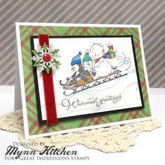 Great Impressions   Mynn Kitchen   F249 Warmest Greetings, G387 Sleigh Friends, G511 Snow Drifts